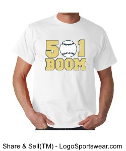 Boom White Adult T-shirt Design Zoom
