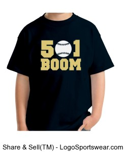 Boom Navy Youth T-shirt Design Zoom