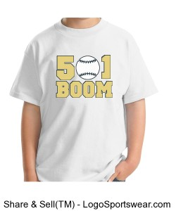 Boom White Youth T-shirt Design Zoom